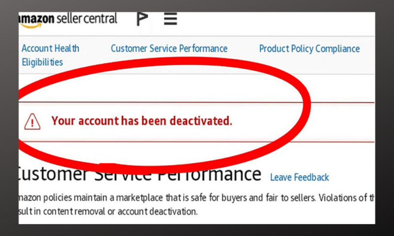 Why My Amazon Seller Account Deactivated?